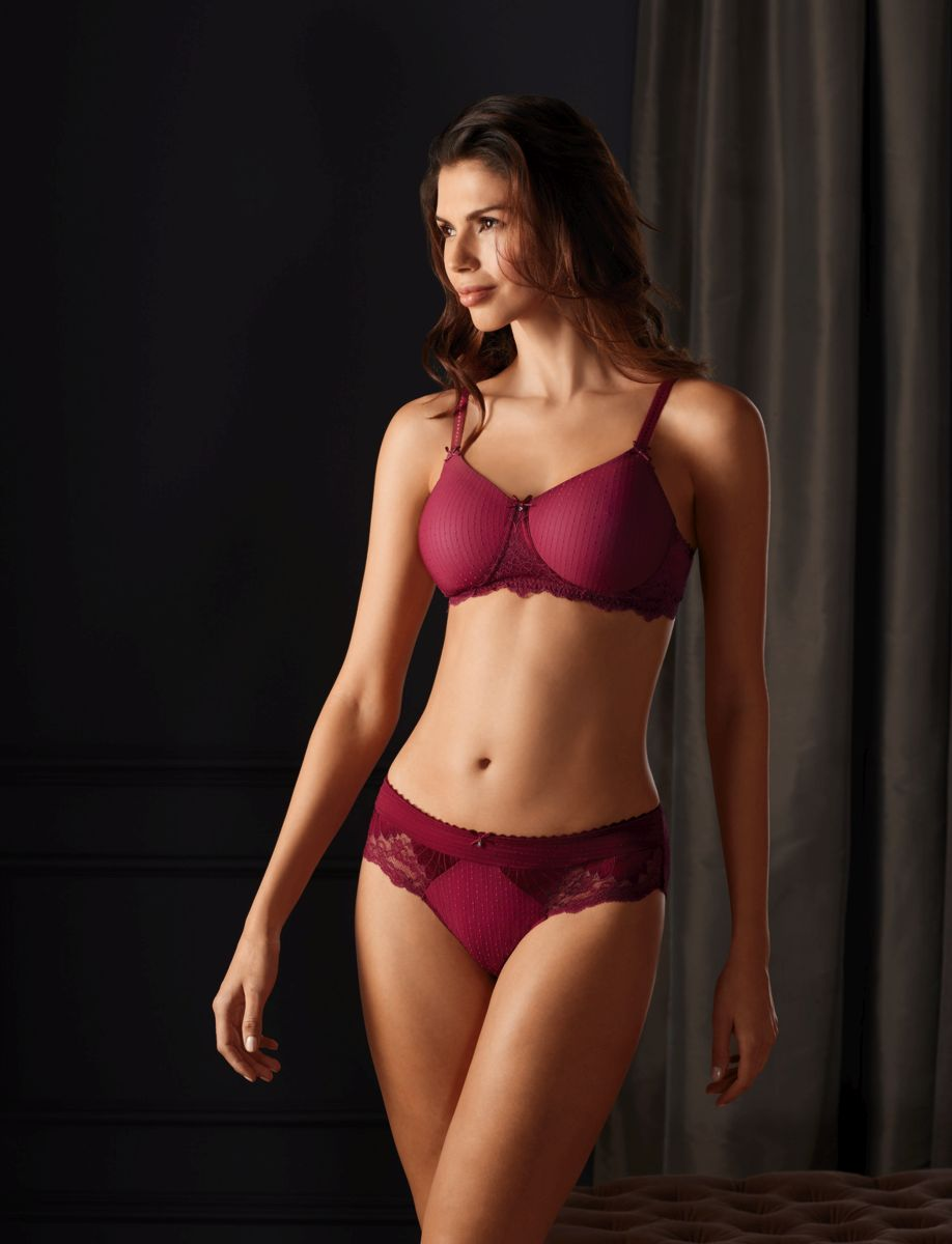 68c9580d696cf Aurelie Padded Post Mastectomy bra in burgundy